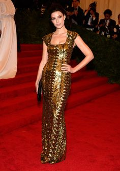Jessica Pare in L'Wren Scott; Impossibly Chic: The Met Gala 2012
