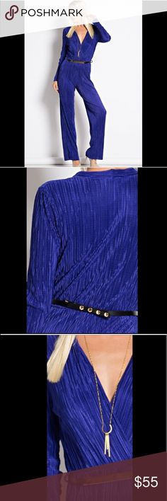 Royal Blue Belted Jumpsuit Gorgeous Royal Blue belted jumpsuit.. Pants Jumpsuits & Rompers