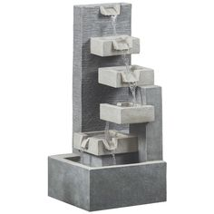 The SQUARE MODERN FOUNTAIN gives you the best outdoor experience. You can purchase this, and find more affordable Outdoor Fountains, at your local At Home store. Water Fountain For Home, Decorative Water Fountain, Modern Fountain, Tabletop Water Fountain, Diy Fountain, Fountain Design, Indoor Fountain, Indoor Waterfall Fountain, Outdoor Wall Fountains