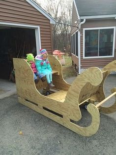 Santa Sleigh Cut Out