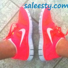 Hot PINK NIKE runners. Just got some new kicks! Can't wait to break them in on my morning run!     cheap nike shoes, wholesale nike frees, #womens #running #shoes, discount nikes, tiffany blue nikes, hot punch nike frees, nike air max,nike roshe run