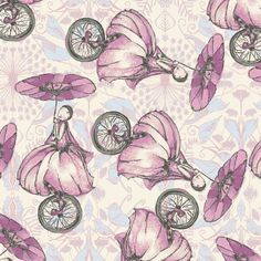 Unicycle Play in Candy Pink - RIDDLES & RHYMES (pwtg153)  - Tina Givens - Free Spirit Fabric  - 1 Yard by MoonaFabrics on Etsy https://www.etsy.com/listing/175037599/unicycle-play-in-candy-pink-riddles