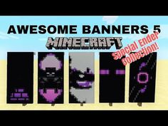 5 AWESOME MINECRAFT BANNER DESIGNS WITH TUTORIAL! #4 ✔ - YouTube Minecraft Banner Patterns, Cool Minecraft Banners, Minecraft Room, Minecraft Decorations, Minecraft Projects, Minecraft Crafts, Minecraft Designs, Minecraft Furniture, Minecraft Houses