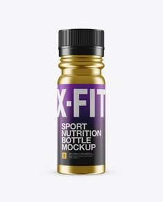 Metal Sport Nutrition Bottle Mockup - Front View (Preview)