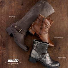 The Earth Footwear Boots for Fall 2013!  Short boots, tall boots, booties! http://www.earthbrands.com/earthfootwear?gender=women&category=boots
