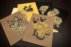 Cat Art, Gladys Emerson Cook, Cats and Kittens Set (5 prints) with Cover from Penn Prints
