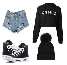 """""""selena gomez tour"""" by terlizzlle on Polyvore featuring Converse and Forever 21"""
