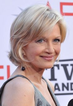 Can you carry off a light blonde like 60-something Diane Sawyer?  She's a natural blonde with the blue eyes and fair skin to help her work that pale blonde.