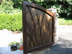 solid driveway gate