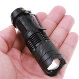 FordEx Group 300lm Mini Cree Led Flashlight Torch Adjustable Focus Zoom Light Lamp