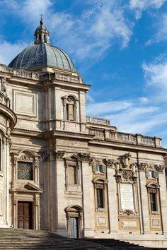 Basilica di Santa Maria Maggiore in Rome Santa Maria Maggiore, World History, Birds In Flight, Photo Library, Media Marketing, Christianity, Rome, Taj Mahal, Catholic