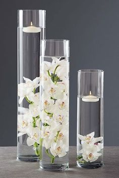 White Orchid submerge in a vase
