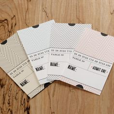 DIY Ticket Escort Cards | Weddingbells.ca