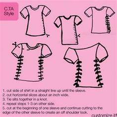 diy cut shirt... saw a girl with this the other day, but the neck was cut out and the sleeves were cut off. It's a cute way to revamp a tshirt.