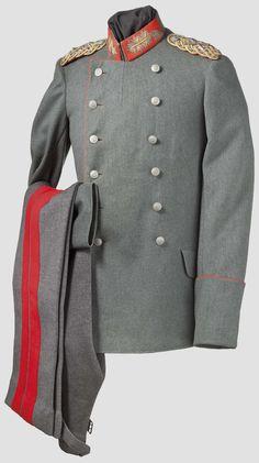 Field Gray Prussian Generalfeldmarschall uniform tunic and pants worn by Austrian Kaiser Franz Joseph I.