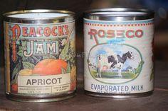 Lata de conserva com rótulo Vintage (foto 2)