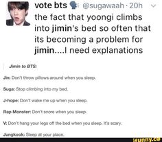 LOL so there were basically five members in Jimin, V, and J-Hope's room XD