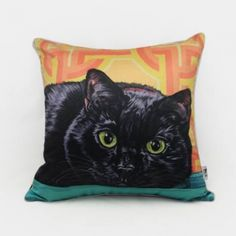Cat throw pillow Hand Painted couch cushions for home decoration