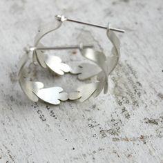 Sterling Silver Hoops - Unique Hoop Earrings - Desert Lichen Hoops on Etsy, $88.00