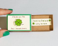Cute Friendship Card Matchbox/ Gift box/ Good Friends