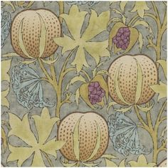 Pumpkins Printed Fabric | G P & J Baker | Arts & Crafts | Curtains & Upholstery V Collection, Kitchen Fabric, Fabric Pumpkins, Exotic Flowers, Furniture Decor, Printing On Fabric, Arts And Crafts, Master Bedroom, Upholstery