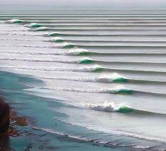 Perfeita formação de ondas em  Puerto Chicama
