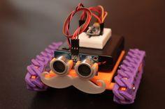 Red rover, red rover, building a Trinket-based (ATtiny85) rover.  #Atmel #Adafruit #ATtiny85 #Trinket #Makers #MakerMovement #DIY
