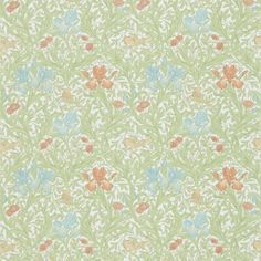 The Original Morris & Co - Arts and crafts, fabrics and wallpaper designs by William Morris & Company | Products | British/UK Fabrics and Wallpapers | Iris (DMFPIR201) | Morris Fabric Compilation