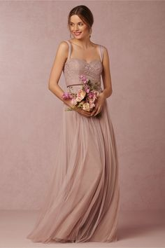 Juliette Bridesmaids Dress in rose quartz by Jenny Yoo exclusively for @BHLDN