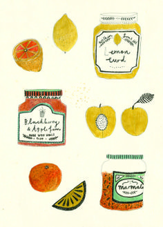 A selection of Jams by Katt Frank Illustration