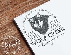 Premade Logo  Logo Design  Vintage Logo  Wolf by RedwoodDesignsUK