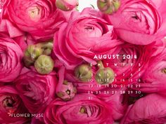 August 2014 Calendar - Download for free on Flower Muse blog.