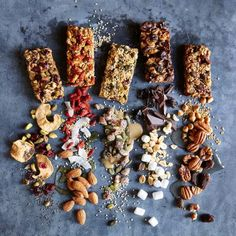 Snack Bars DIY Snack Bars: 25 recipes for healthy, homemade bars Healthy Snack Bars, Protein Packed Snacks, Healthy Treats, Eating Healthy, Paleo Bars, Healthy Breakfasts, High Protein, Healthy Cooking, Clean Eating