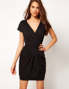 wrap dress with fitted waist ++ asos