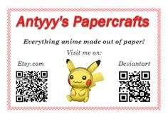 Antyyy's papercrafts business card by Antyyy.deviantart.com on @DeviantArt