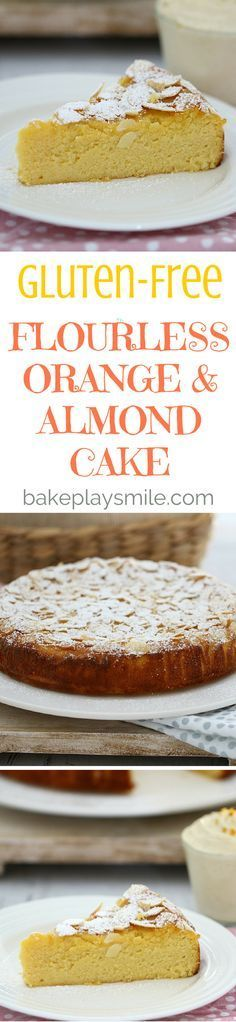 Perfectly moist and delicious, this Thermomix Gluten-Free Flourless Orange and Almond Cake ticks all the boxes. Serve with vanilla bean infused double cream for an indulgent treat. Easy Gluten Free Desserts, Gluten Free Cakes, Foods With Gluten, Gluten Free Cooking, Gluten Free Recipes, Almond Recipes, Baking Recipes, Cake Recipes, Dessert Recipes