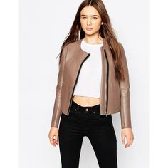 Shop Muubaa Reversible Palmira Bonded Leather Jacket at ASOS. 648148d4babf4