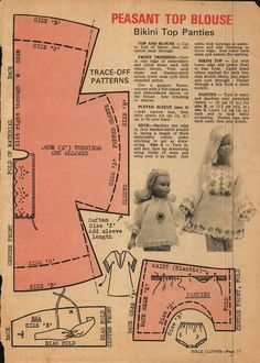 Enid Gilchrist's Dolls Clothes - Jimali McKinnon - Picasa Web Albums small size for Lottie Sewing Barbie Clothes, Barbie Sewing Patterns, Doll Dress Patterns, Sewing Dolls, Clothing Patterns, Sewing Closet, Barbie Dress, Barbie Doll, Barbie Skipper