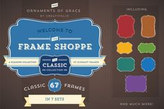 Check out 67 Classic Frames (PSD with Paths) by Ornaments of Grace on Creative Market