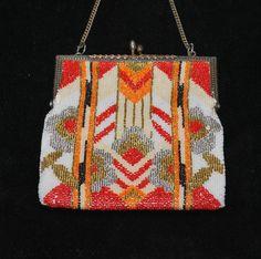 Art Deco Beaded Geometric Purse, screams art deco.  I think this one was bead woven.