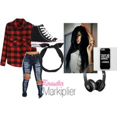 Female Markiplier by scarletvsgaming-1 on Polyvore featuring Converse, yunotme and Beats by Dr. Dre