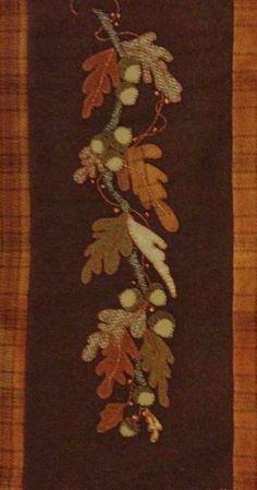 Wool Applique Oak Leaves by Louise