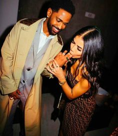 Couple Goals Relationships, Relationship Goals Pictures, Black Couples Goals, Cute Couples Goals, Big Sean And Jhene, Jhene Aiko, Bad Girl Aesthetic, Lovers And Friends, Celebs