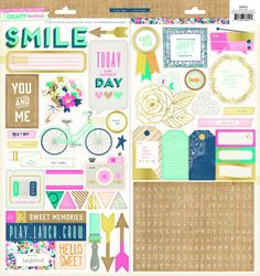 Crate Paper - Craft Market Collection - Accent Stickers - SharBearCrafts