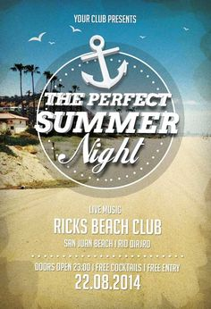 Free Perfect Summer Nights Flyer Template - http://freepsdflyer.com/free-perfect-summer-nights-flyer-template/ Free Perfect Summer Nights Flyer Template – This flyer template was designed to promote your next summer party event. Are your ready for the beach? Time for pool party. This print ready premium flyer template includes a 300 dpi print ready CMYK file. All main elements are editable and customizable.    #Bar, #Beach, #Club, #Event, #Lounge, #Minimal, #Night, #Ni