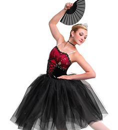 Lullaby/Stormy Spanish Red Black Curtain Call Ballet Dance Tutu Dress Costume MA in Clothing, Shoes & Accessories, Dancewear, Adult Dancewear Cute Dance Costumes, Ballet Costumes, Spanish Costume, Contemporary Dance Costumes, Flamenco Skirt, Dance Dreams, Curtain Call, Dance Outfits, Dance Wear