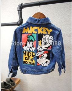 new 2014 coats and jackets for children mickey mouse girls Denim jacket kids jackets & coats frozen baby & kids outerwear