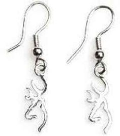 Soooo love these Amazon.com: Browning Buckmark Sterling Silver Drop Earrings: Sports & Outdoors