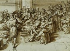 Bartolommeo Passarotti Anatomy Lesson Taught by Michelangelo to the Artists of his Time, c. 1569 Pencil, brown ink, brown wash - x Paris, Musée du Louvre