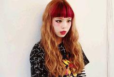(90) red bangs | Tumblr